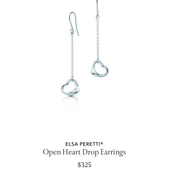 c1d280e48 Tiffany & Co. Jewelry | Tiffany Co Open Heart Drop Earrings | Poshmark